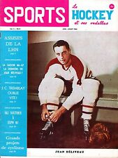 1966 (June/July) Sports Le Hockey Magazine, Jean Beliveau, Montreal Canadiens~VG