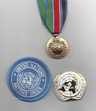 UNPROFOR FULL-SIZE  MEDAL FOR BOSNIA ,UN BERET  &  SLEEVE BADGE -SUPERB LOT