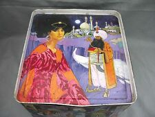 A wonderful Cadbury Arabian Knights 1970s biscuit tin. Fabulous and Rare!