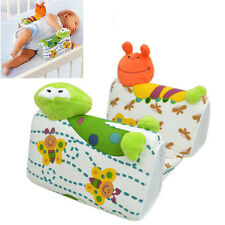 Baby Newborn Safe Anti Roll Pillow Sleep Positioner Prevent Flat Head Cushion Q