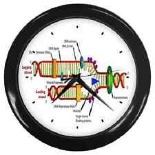 DNA DIAGRAM STRUCTURE DATA BIOLOGY SCIENCE LAB WALL CLOCK **GREAT ITEM**