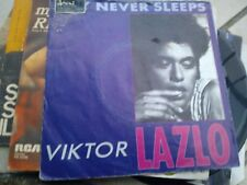 "7"" VIKTOR LAZLO CITY NEVER SLEEPS WISH YOU WERE HERE COVER VG VINYL EX++"