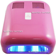 Pink 36W UV Gel Nail Art Curing Dryer Lamp & 5 Light Bulbs 579