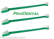 3-DUAL-End DOG CAT TOOTHBRUSHES Toothbrush Dental Mouth Oral Hygiene Teeth Care