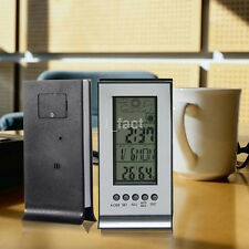 LCD Digital Thermometer Hygrometer Weather Station Humidity Temperature Clock