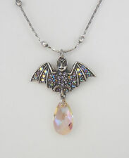 NEW KIRKS FOLLY PETITE BEWITCHING BAT CRYSTAL PURPLE HAZE NECKLACE ~ NEW RELEASE