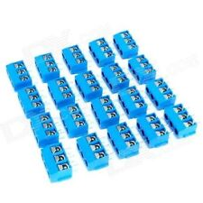3 PIN PCB Mount Screw Terminal Block Connectors - Blue (15 pcs)