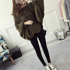 Korean Women's Fashion Loose Pullover Knit Sweater Top