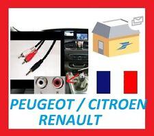Cable auxiliaire RCA ipod iphone mp3 musique Peugeot Citroen picasso ds3 ds4 207