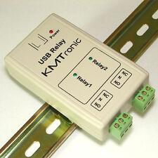 KMTronic USB 2 Relais, RS232 Série contrôlée, BOX, DIN rail