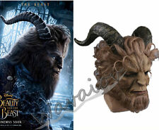 US SHIP! Beauty And The Beast Prince Adam Mask Horror Cosplay Wig Lion Helmet