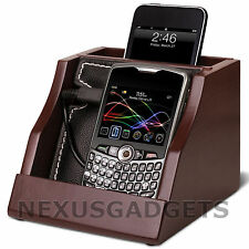 Hides Wires Device Charging Stand Valet Tray Smart Cell Phones iPhone MP3 Player