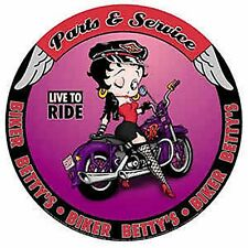 Betty Boop Parts and Service round metal wall sign (41)