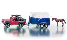 Siku Super 1651 Bockmann Jeep Wrangler with Horse Trailer Model