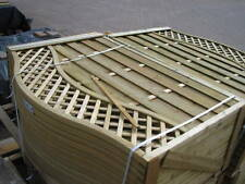 Wave Top Fence Panels, shaped, trellis top, 1.2 x 1.8, pressure treated, CHELSEA