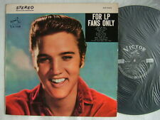 ELVIS PRESLEY FOR LP FANS ONLY / EX+ CLEAN COPY 1965 FULL LAMINATED FLIP BACK CO