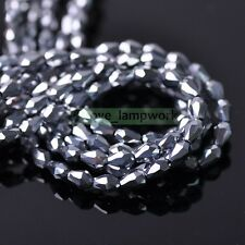 Wholesale Lot 3/5X7/8mm Teardrop Faceted Loose Spacer Crystal Glass Beads DIY