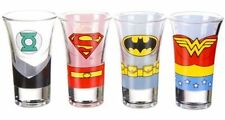DC Justice League Shot Glass Set Wonder Woman Batman Superman Green Lantern