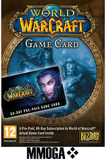 World of Warcraft 60 Day Pre-paid Game Card Key - WoW 60 Days Timecard PC Mac EU