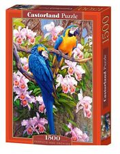 Puzzle 1500 PARROTS AND ORCHIDS  jigsaw PAPUGI I KWIATY CASTORLAND *JBook