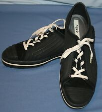 Womens Ccilu Black Shoes 10 Noll CeeCee Jelly Rubber Lace Up Water Beach