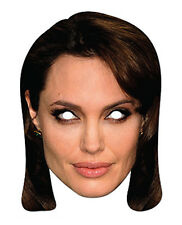 Angelina Jolie Celebrity 2D Card Party Face Mask Fancy Dress Hollywood Actress
