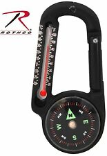 Rothco Carabiner Compass & Thermometer Outdoor Survival Tool 6500