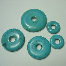 Turquoise Magnesite Donut 5 Beads 25mm-50mm Focal Pendant DIY Jewelry Craft
