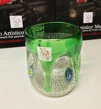 GOTO bicchiere in vetro di Murano con Murrine, Murano glass Vase