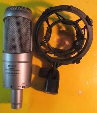 AUDIO TECHNICA AT3035 CARDIOID CONDENSER MICROPHONE W/ AT8458 SHOCK MOUNT