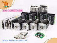 FREE USA! Wantai 4Axis Nema34 Stepper Motor 1232oz-in 5.6A +Driver 80V CNC KIT