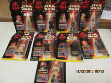 1998 Hasbro Lot of 9 Star Wars Episode 1 Commtech Collection #1 Darth Maul ++++
