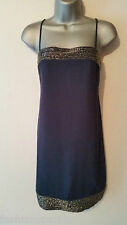 BNWT New NEXT Navy Blue Heavy Silver Beaded Cami Dress size 10 RRP £62