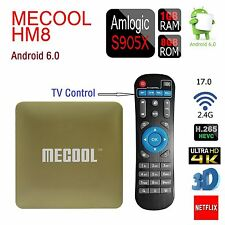 HM8 Smart TV Box IPTV 4K HDMI Android 6.0 S905X Quad Core 1G+8G WIFI Free Moives