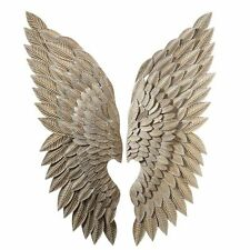 Angel Wings Iron Wall Sculpture Decor, Chic Shabby French Country,15'' x 44''H.