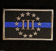 THREEPER 3%ER 3 PERCENTER US POLICE THIN BLUE LINE SWAT ARMY VELCRO® BRAND PATCH