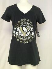 Pittsburgh Penguin Women's Shirt Slim Fit Medium  NHL Ice Hockey New