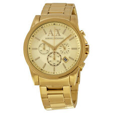 Armani Exchange Gold Ion-plated Stainless Steel Mens Watch AX2099