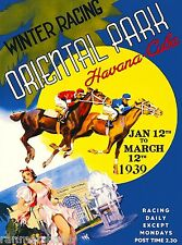 Oriental Park Horse Racing Havana Cuba Caribbean Travel Advertisement Poster