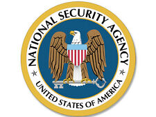 4x4 inch Round NSA Seal Sticker - National Security Agency spy logo intelligence