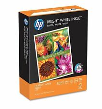 "HP Bright White Inkjet Paper 24lb 97 Bright 8-1/2 x 11"" Ream - New Item Free Shp"