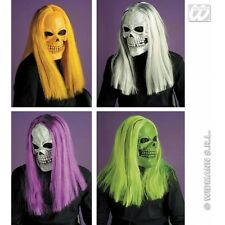 Skull Mask with Wig for Halloween Fancy Dress Accessory