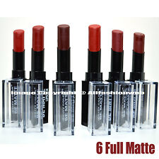 6 CITY COLOR BE MATTE LIPSTICK DARK RED BROWN COFFEE SET LIP STICK L-0021C