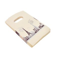 100pcs Yellow Eiffel Tower Packaging Bags Plastic Shopping Bags With Handle to