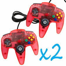 X2 New Clear Red Long Handle Controller Pad Joystick for Nintendo 64 N64 System