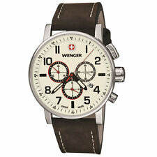 Wenger 01.1243.105 Men's Commando Brown Strap Chronograph Watch