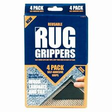 4x RUGGIES RUG CARPET MAT GRIPPERS NON SLIP SKID REUSABLE WASHABLE GRIPS TOOL UK