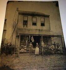 Rare Antique Southern American Occupational Old Store Full Plate Tintype Photo!