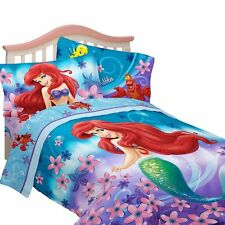 Disney Little Mermaid Ariel Reversible Comforter Full size 4 pieces Set Sham
