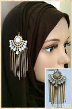 STATEMENT CHAIN PIN BROOCH HAT PIN FOR HIJAB SCARF